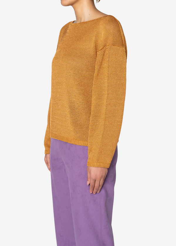 Rope Lily Yarn Long sleeve Sweater in Camel