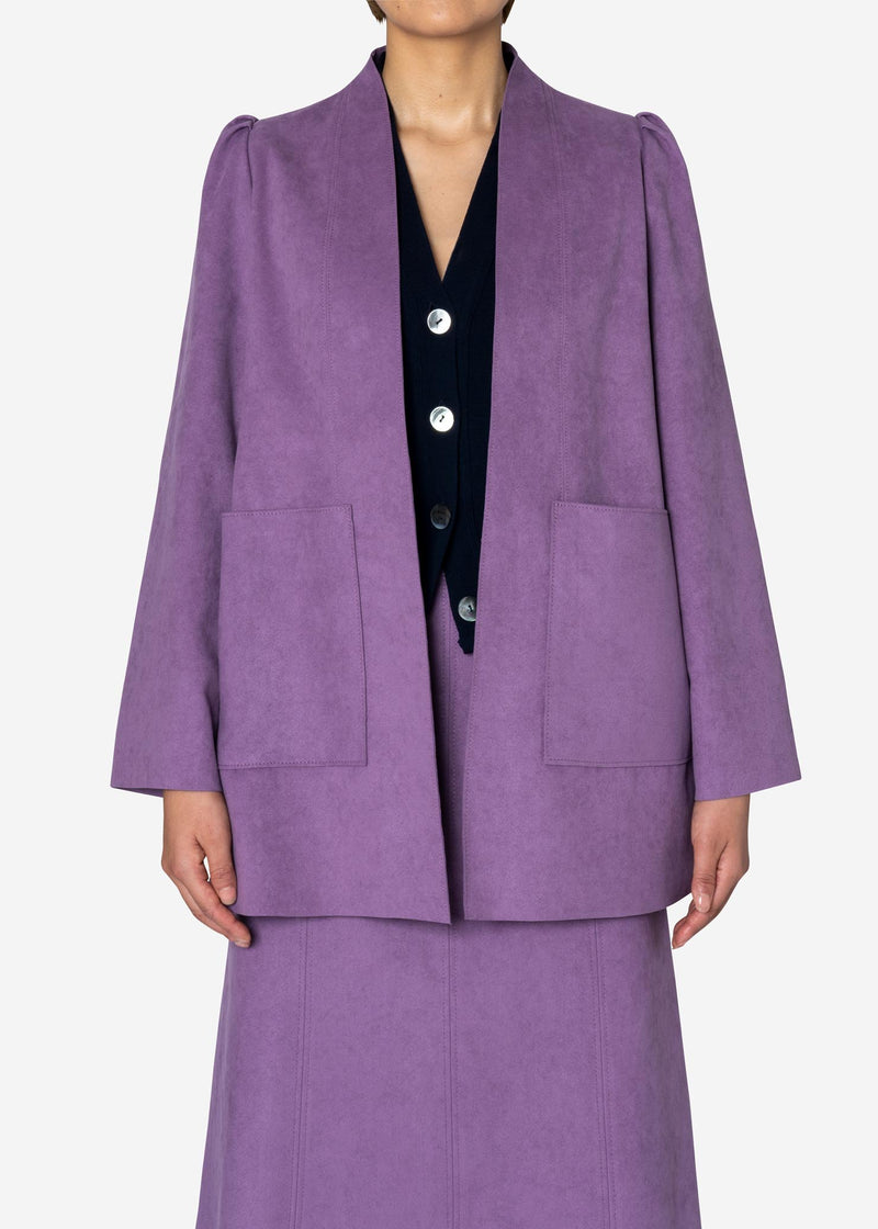 Soft Suede Jacket in Light Purple