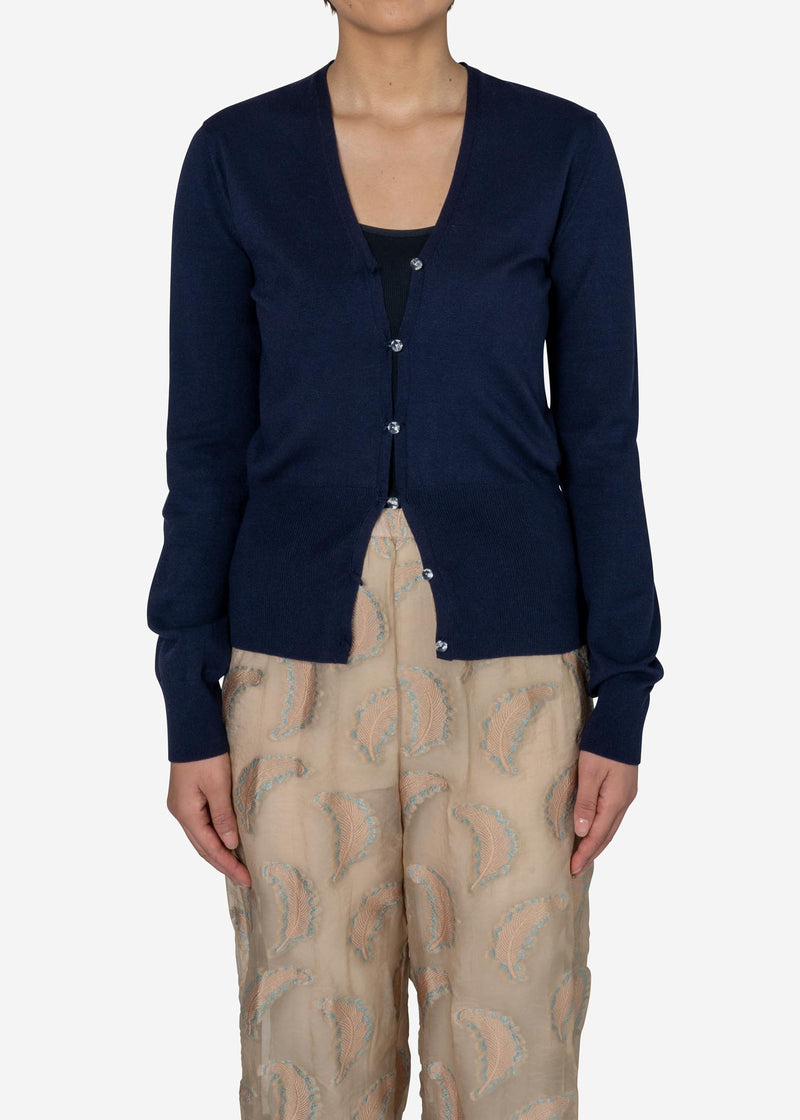Dream Stretch Knit Cardigan in Navy