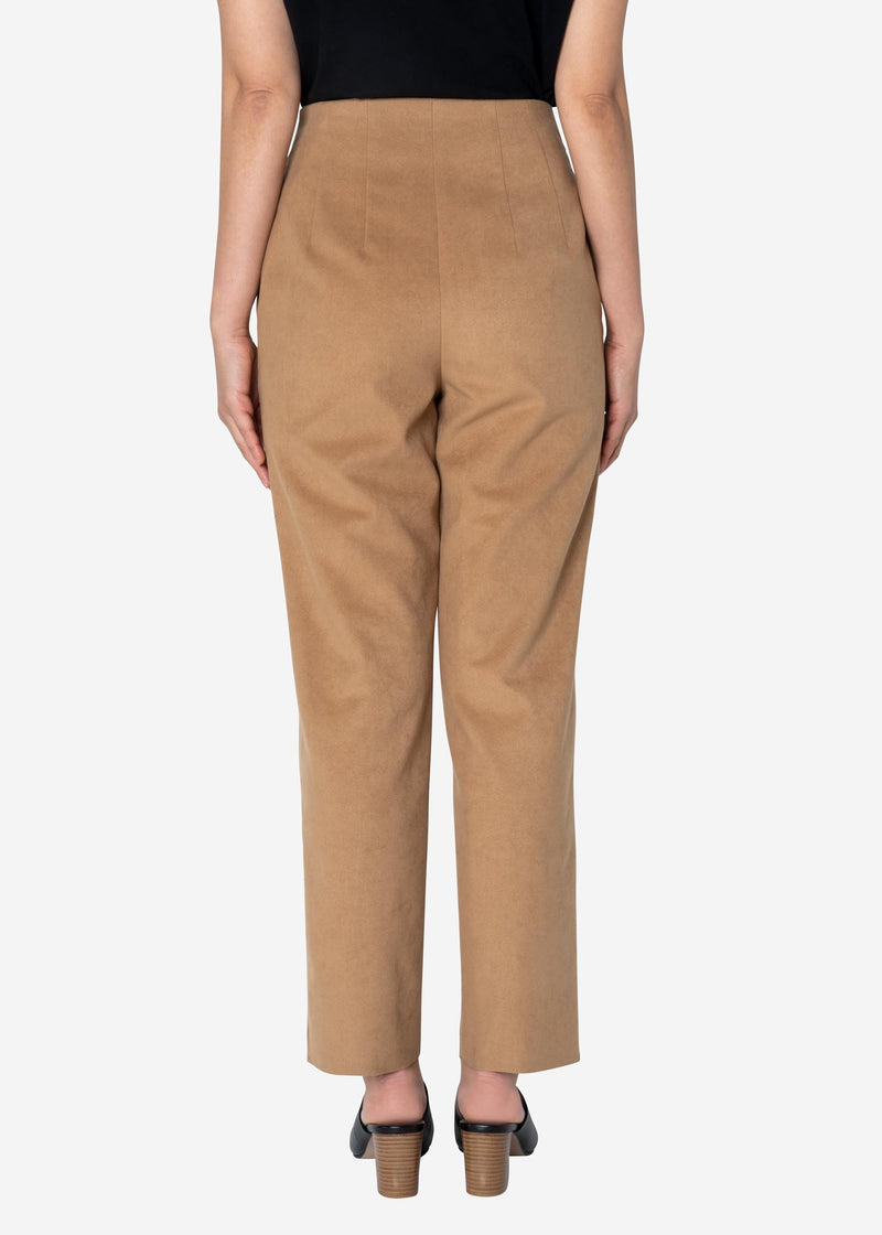 Soft Suede Pants in Beige
