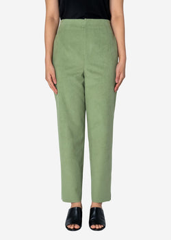 Soft Suede Pants in Light Green