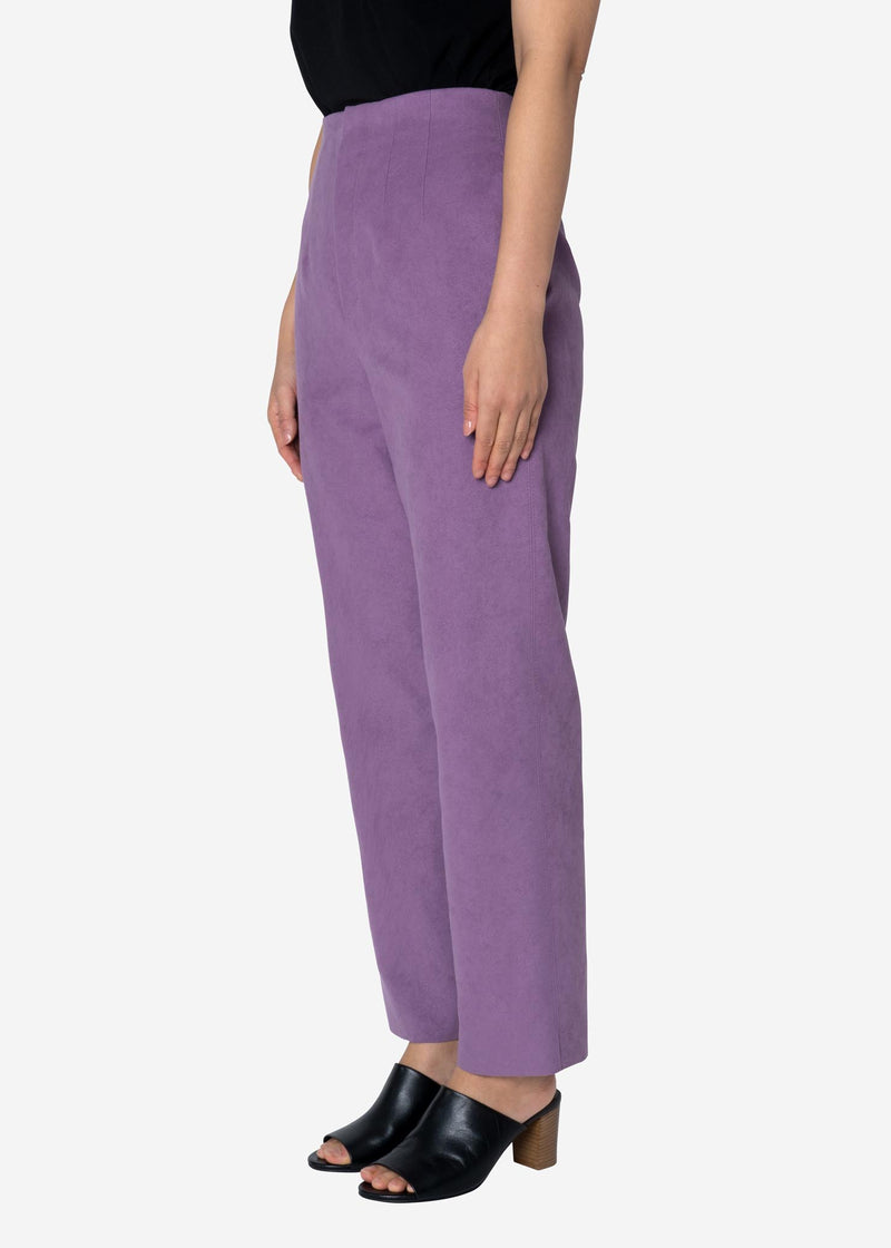 Soft Suede Pants in Light Purple