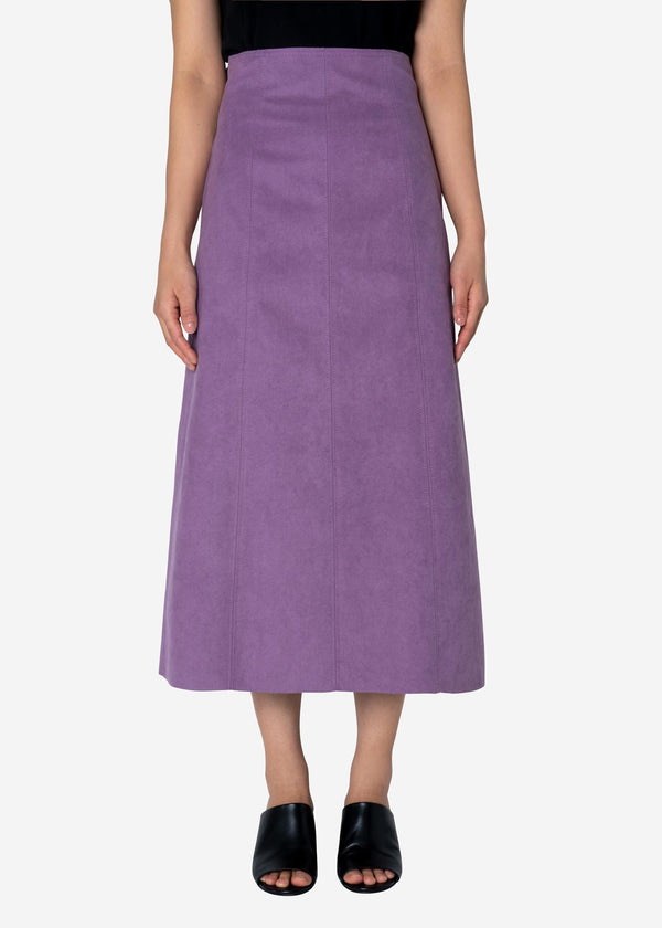 Soft Suede Skirt in Light Purple