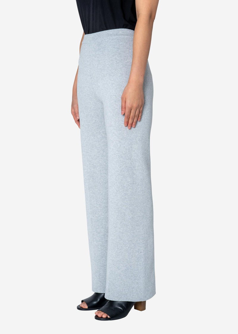 Harry Stretch Milano Rib Knit Pants in Gray