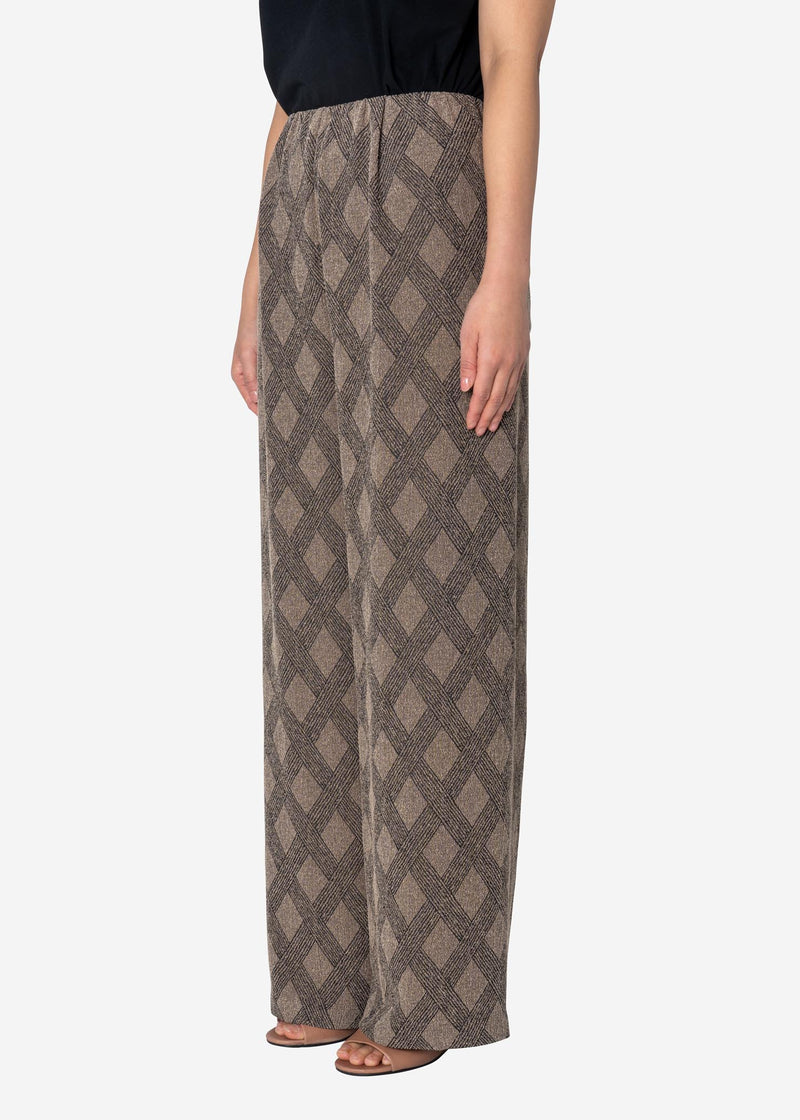 Argyle Check Jacquard Pants in Other
