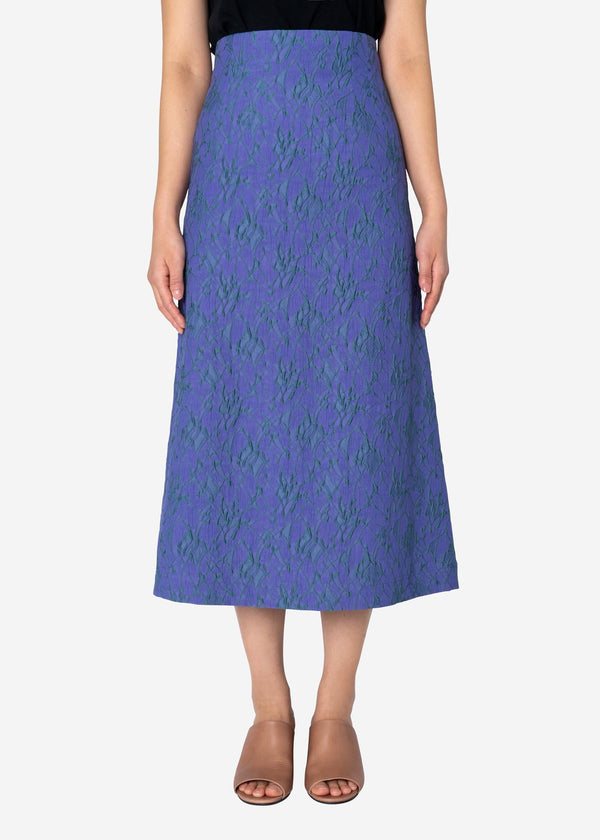 Splash Jacquard Skirt in Light Purple