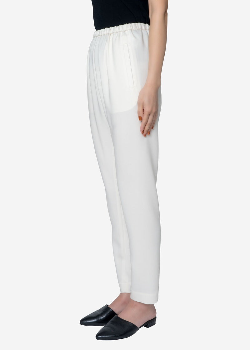 Stretch Double Cloth Pants in Off White