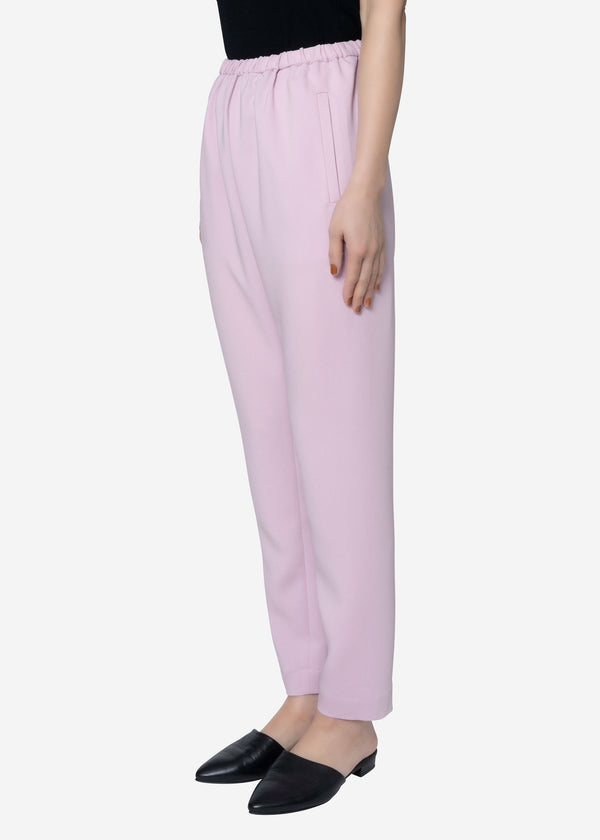 Stretch Double Cloth Pants in Pink