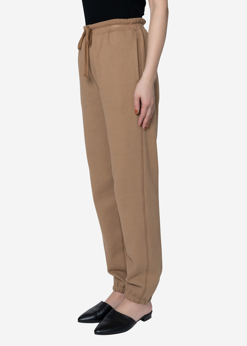 Soft Sweat Pants in Camel