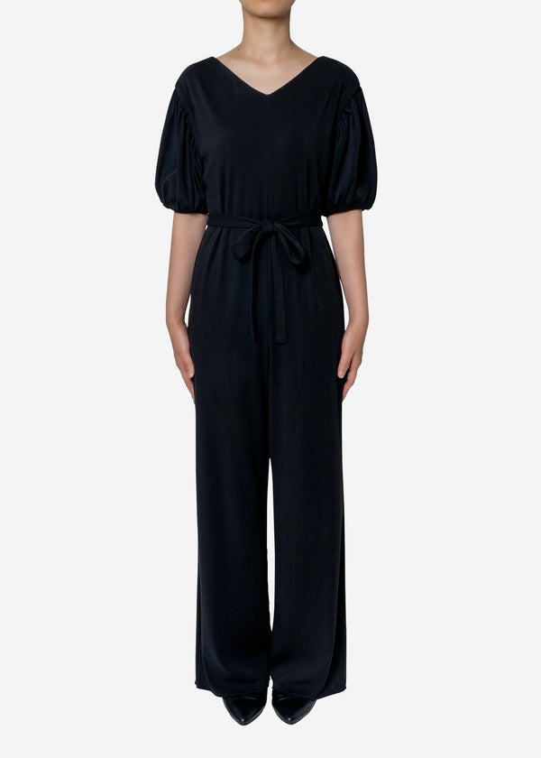 Technorama Rib Jumpsuit in Black