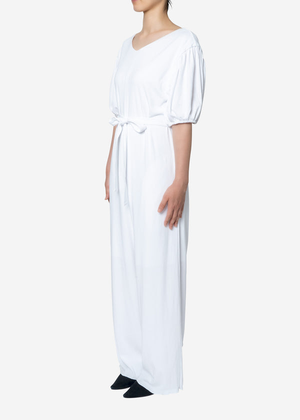 Technorama Rib Jumpsuit in White