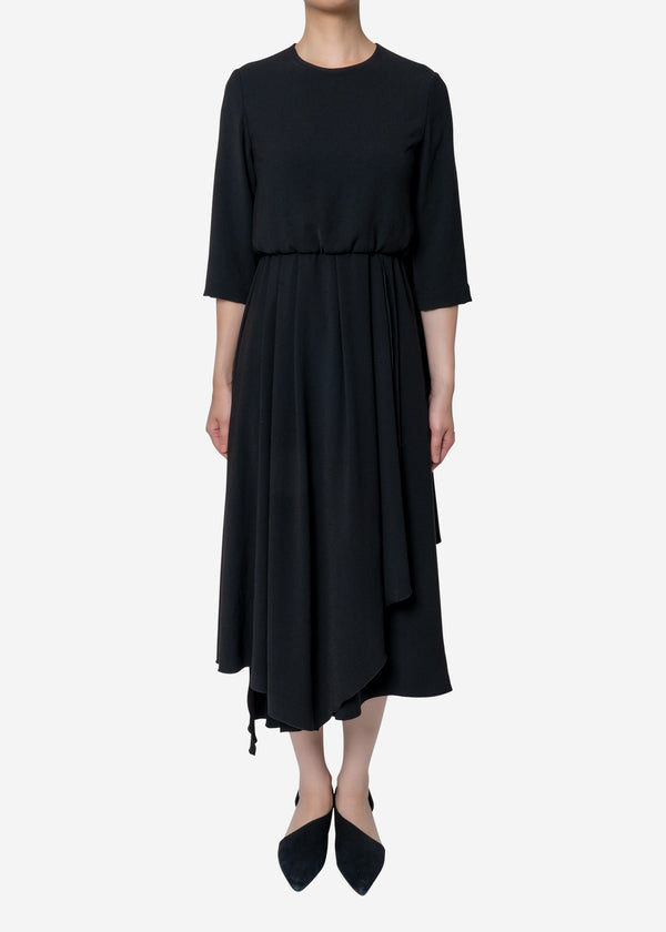 Limited Double Cloth Dress in Black