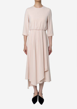 Limited Double Cloth Dress in Pink
