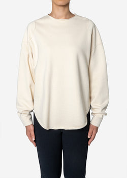 Diorama Jersey Big Sweatshirts in Ivory