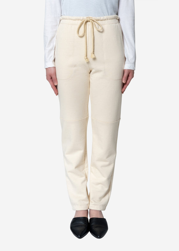 Diorama Jersey Pants in Ivory