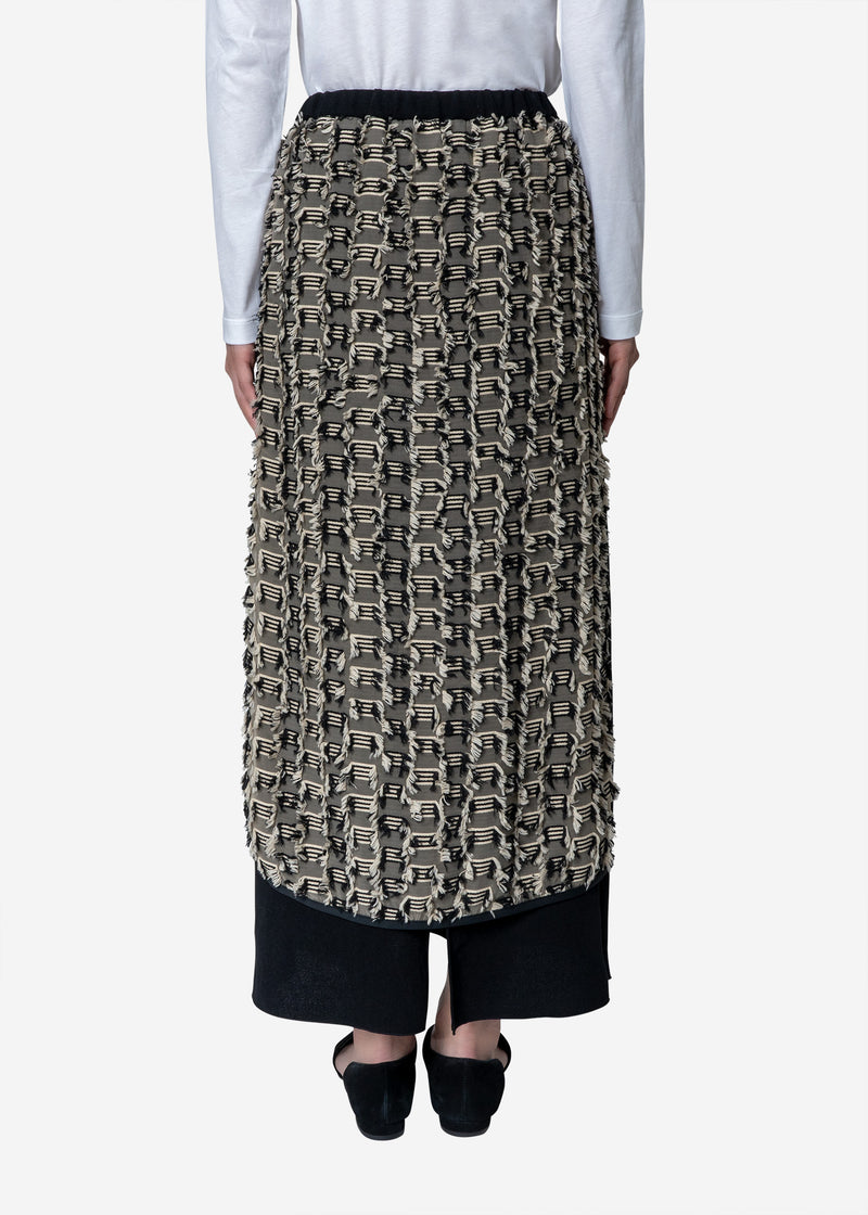 Stripe Cut Jacquard Skirt in Other
