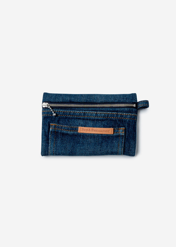 Denim Remake Pouch in Indigo