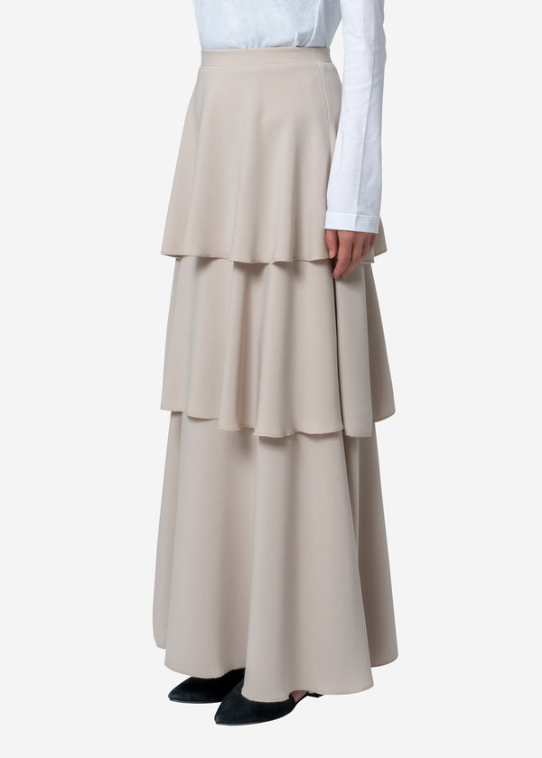 Exclusive Flare Skirt in Beige