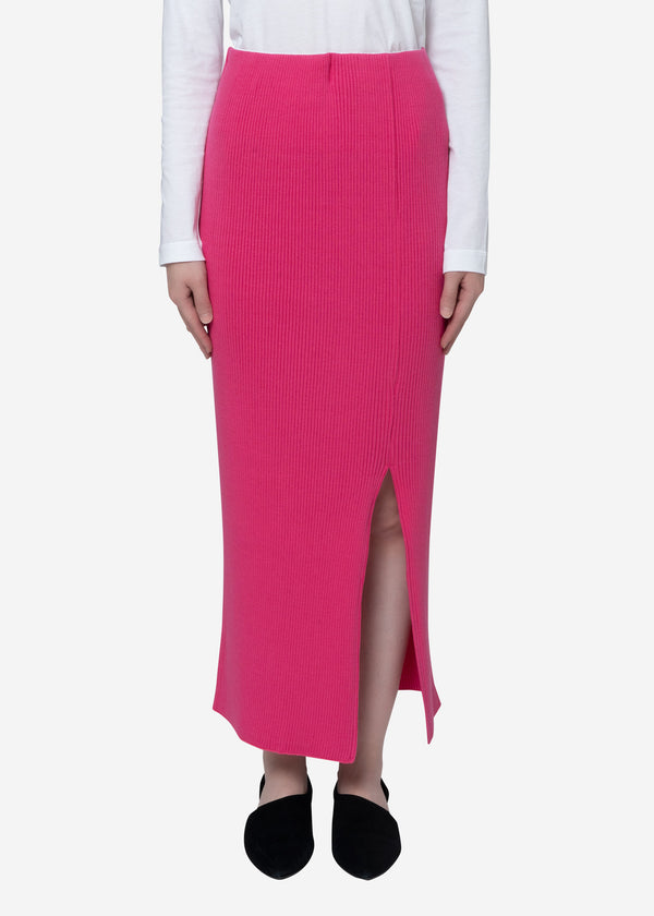 Exclusive Rib Skirt in Pink