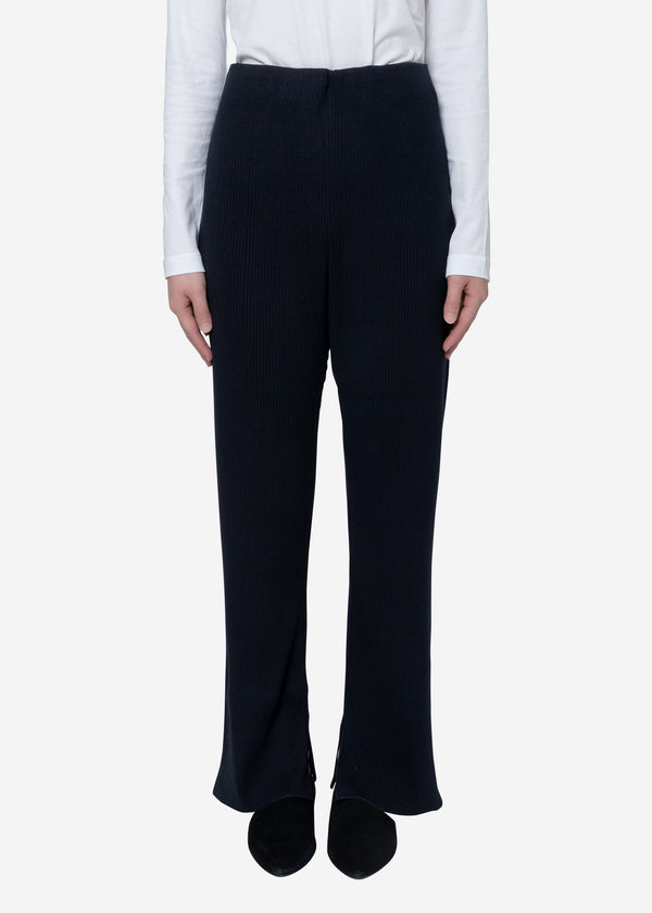 Exclusive Rib Pants in Navy