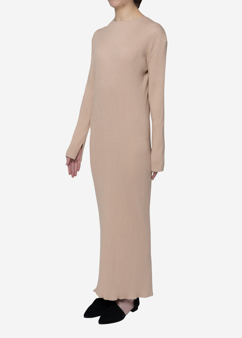 Exclusive Rib Dress in Beige