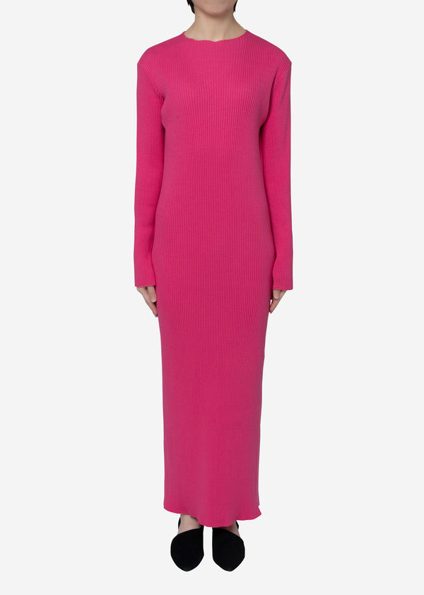 Exclusive Rib Dress in Pink