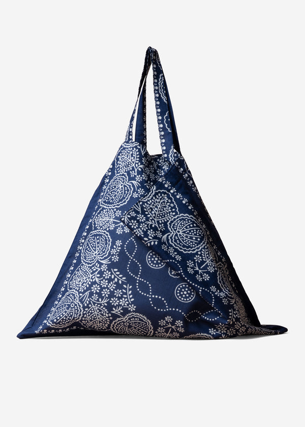 Leaf Bandanna Bag in Navy