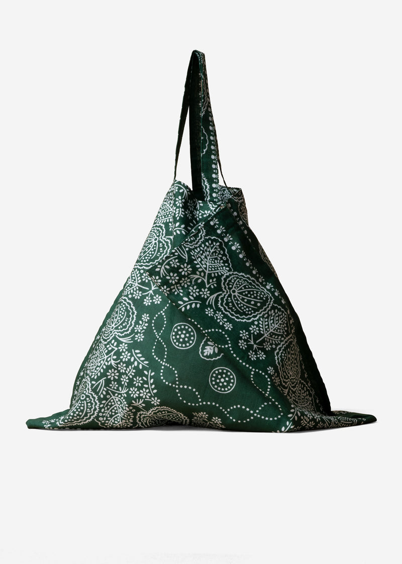 Leaf Bandanna Bag in Green