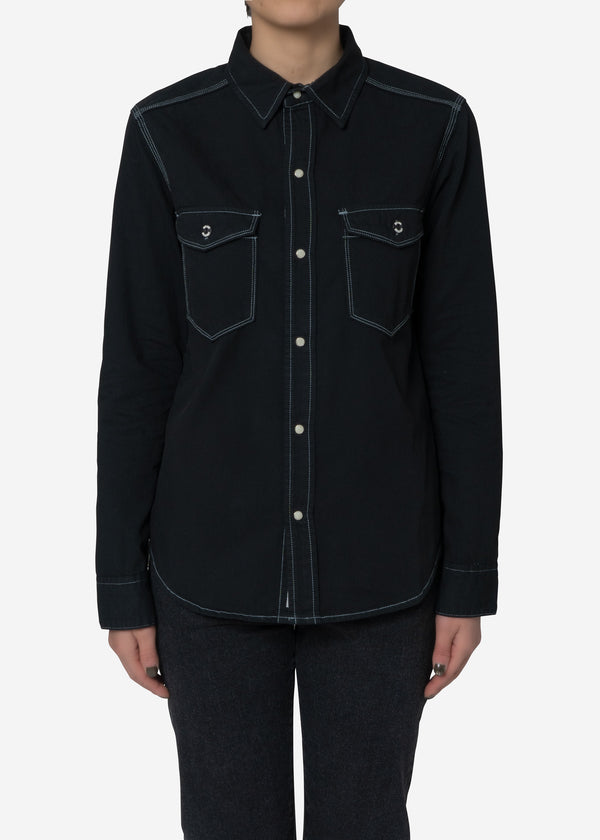 Standard Denim Shirts in Black