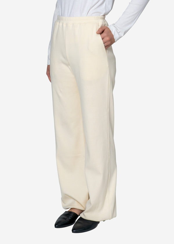 Natural Rib Pants in Ivory