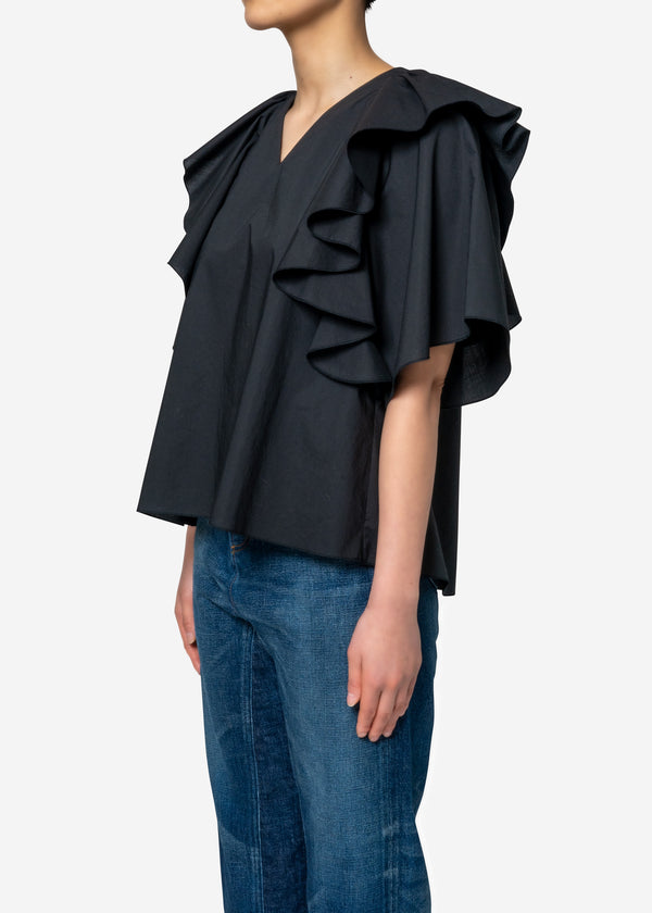 Limited Flare Blouse in Black