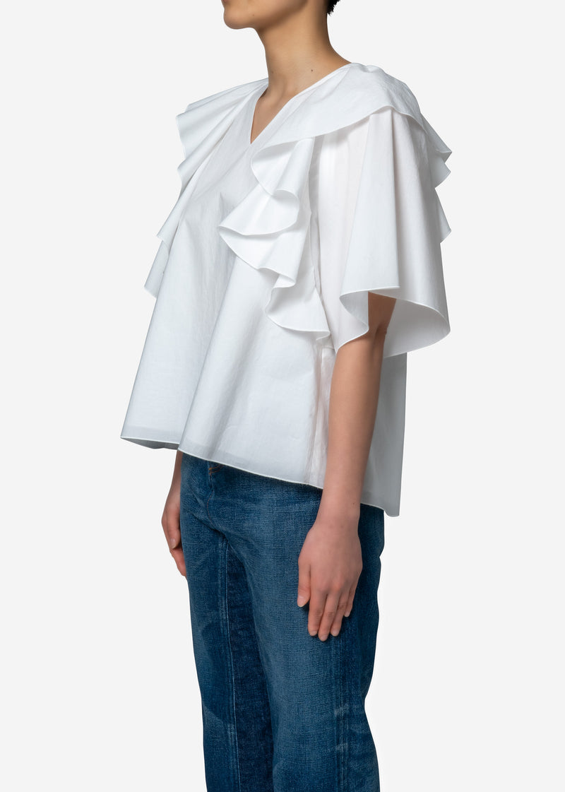 Limited Flare Blouse in White