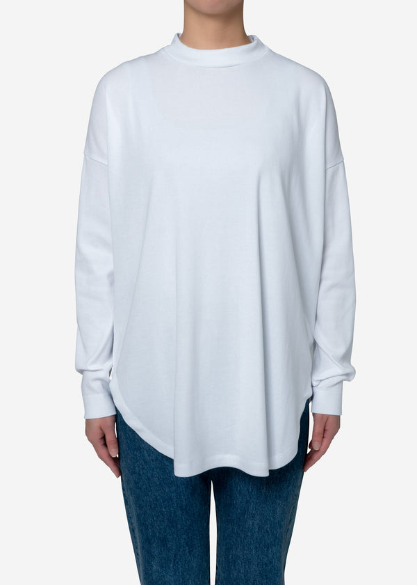 Technorama Rib Big Long Sleeve Tee in White