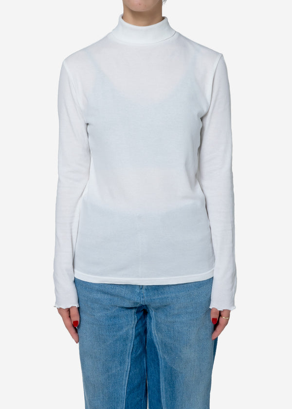 Cosmorama Smooth High neck Top in White
