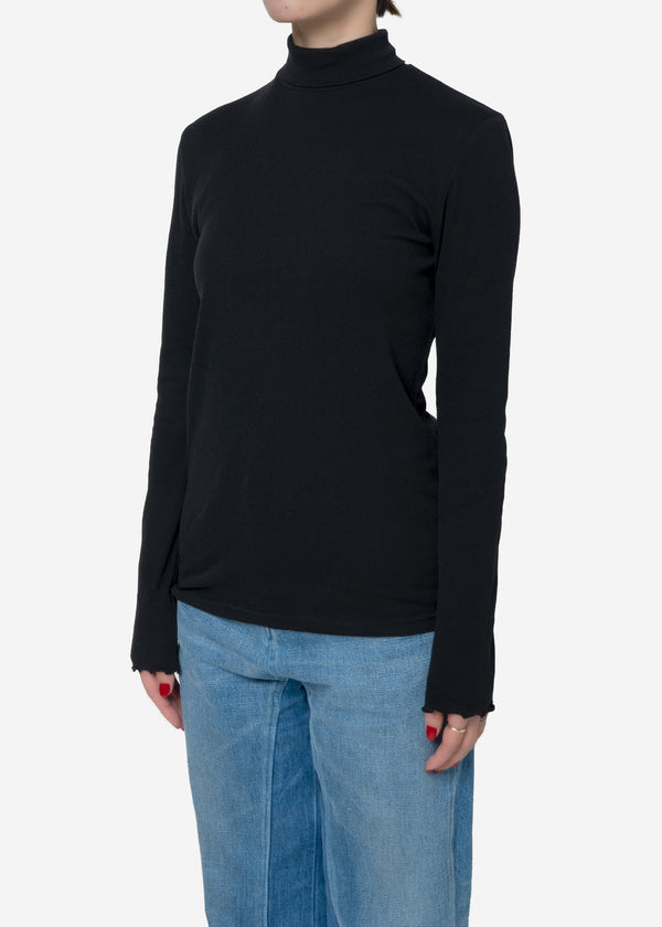 Cosmorama Smooth High neck Top in Black