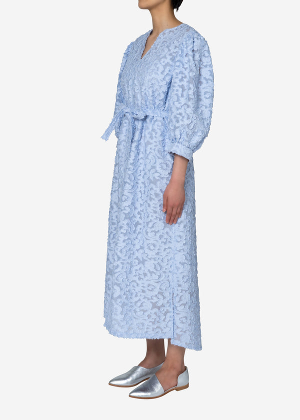 Original Flower Cut JQ Dress in Light Blue