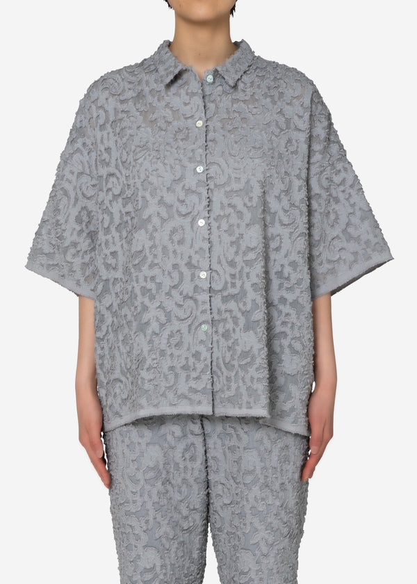 Original Flower Cut JQ Shirt in Light Gray