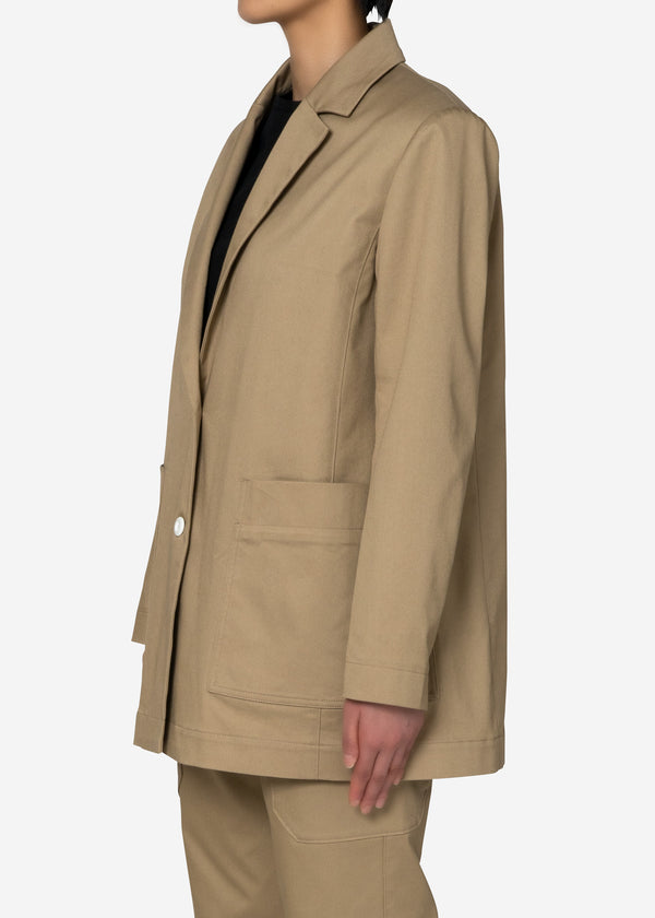 COOLMAX Twill Jacket in Beige