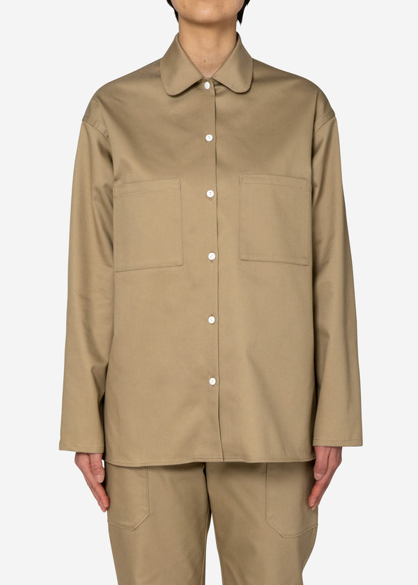 COOLMAX Twill Long Shirts in Beige