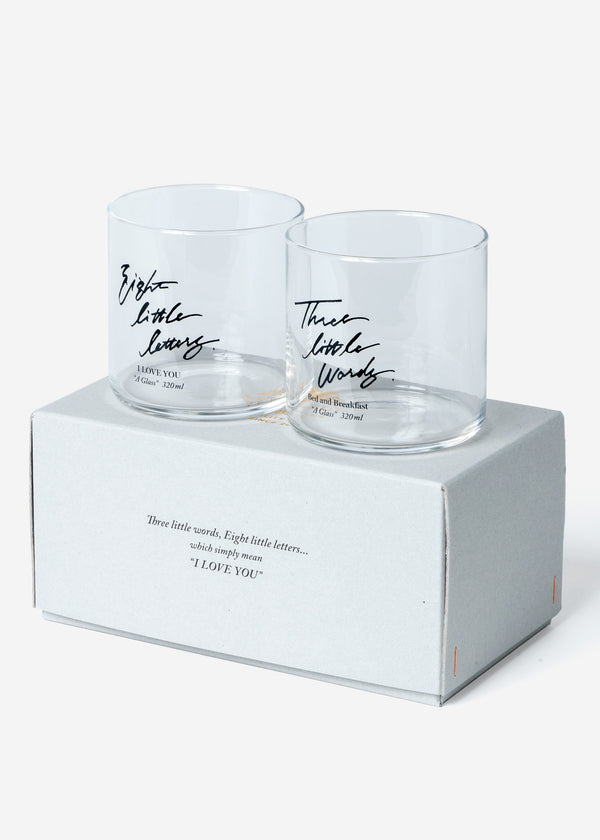 "B&B A pair of  ""A Glass-320ml""  in BOX"