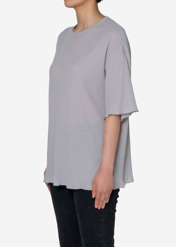 Technorama Gauze  Big Tshirt  in Light Gray