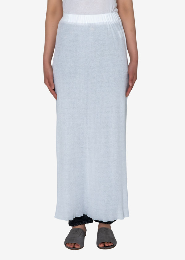 Technorama Gauze Skirt in White