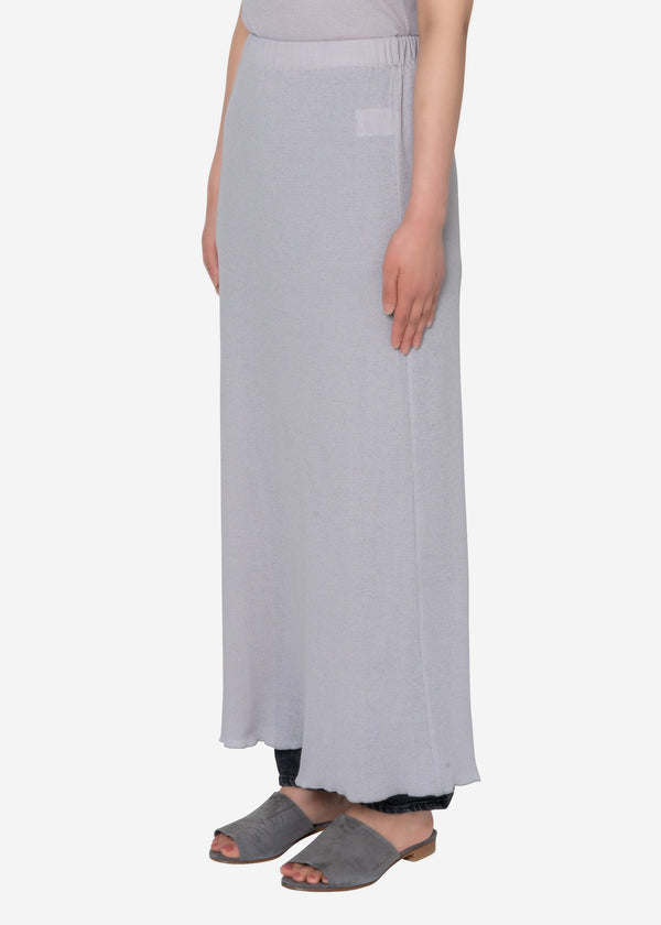 Technorama Gauze Skirt in Light Gray