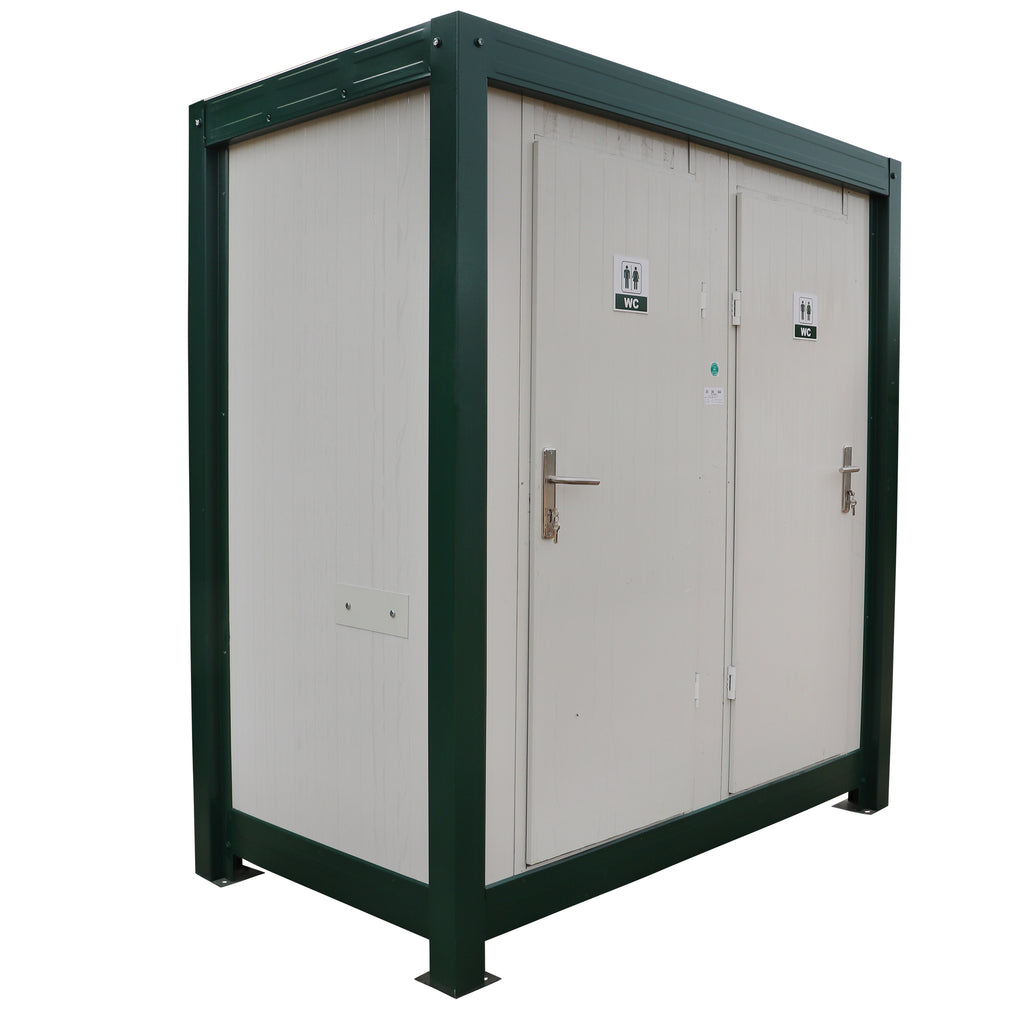 1+1 Prefab Double Mains Toilet Block