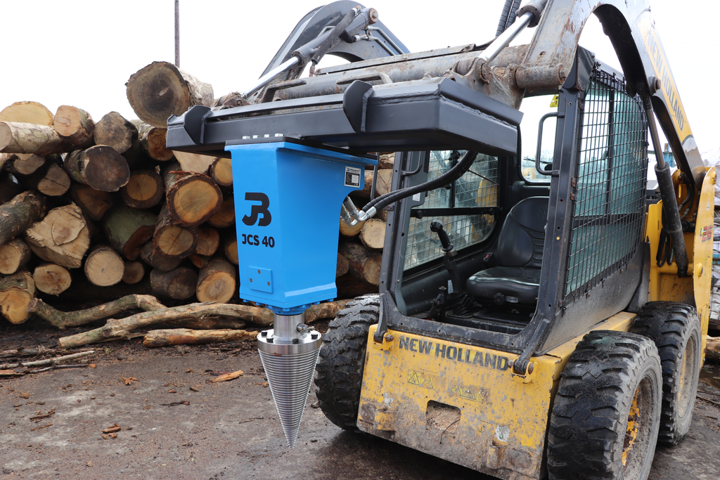 JCS 40 Hydraulic Cone Timber Splitter to fit Excavators, Telehandlers & More