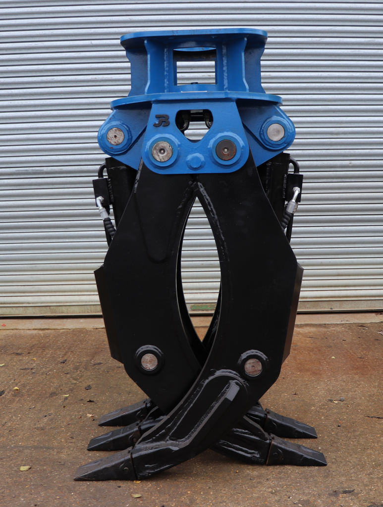 Hydraulic Fixed 2-Way General Purpose HD Excavator Grapple - 10-16 Tonne
