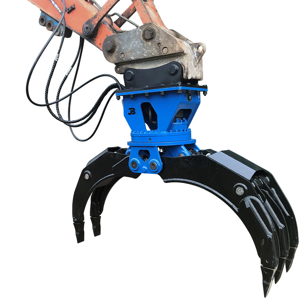 Hydraulic Rotating General Purpose HD Excavator Grapple - 10-16 Tonne