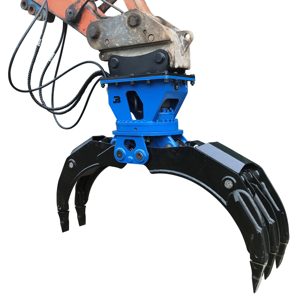 Hydraulic Rotating General Purpose HD Excavator Grapple - 18-25 Tonne