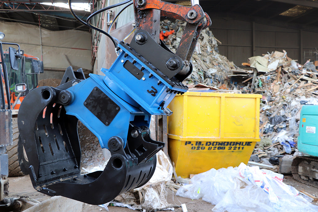 Hydraulic Rotating Excavator Selector Grab - 7-10 Tonne