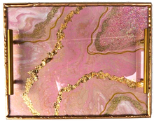 Load image into Gallery viewer, Geode Inspired Rolling Tray - Pink